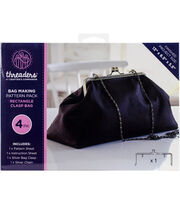 Crafter's Companion Threaders Bag Making Kit-Rectangle Clasp, , hi-res