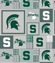 "Michigan State University Spartans Fleece Fabric 60""-Gray Box, , hi-res"