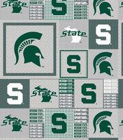 "Michigan State University Spartans Fleece Fabric 60""-Gray Box, , hi-res"