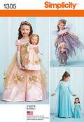Simplicity Pattern 1305A 3-4-5-6-7--Child Costume
