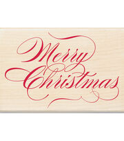 Inkadinkado Christmas Mounted Rubber Stamp Merry Christmas, , hi-res