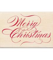 Inkadinkado Christmas Mounted Rubber Stamp Merry Christmas, , hi-res