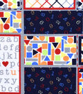 Nursery Flannel Fabric 42\u0022-Bright 123 Patchwork