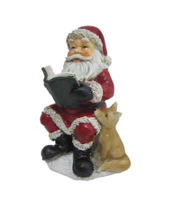 Maker's Holiday Christmas Littles Resin Reading Santa