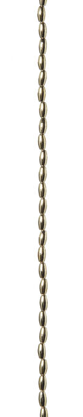 3 x 6mm Gold Metallic Oval Pearl Strand, 60 inch