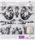 Iron Orchid Designs 10 pk Art Decor Fashion Clear Stamps-Fantastico