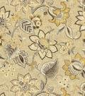 Waverly Upholstery Fabric 54\u0022-Floral Fresh Flax