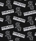 Chicago White Sox Cotton Fabric 58\u0022-Black