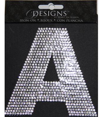 "Mark Richards Designs 3.5"" Rhinestone Iron-Ons-Letter & Number"