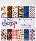 Your Next Stamp 24 sheet 6\u0027\u0027x6\u0027\u0027 Paper Pad-For The Boys
