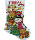 Making New Friends Stocking Counted Cross Stitch Kit Long 14 Count