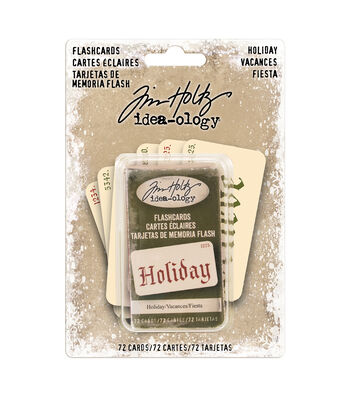 Tim Holtz Idea-ology Paperie Holiday Flash Cards