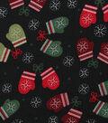 Christmas Cotton Fabric 43\u0022-Stitched Mittens