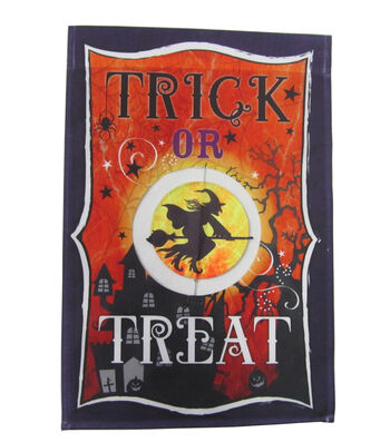 "Maker's Halloween Flag 12""x18""-Trick or Treat"