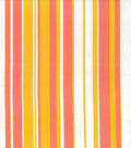 Home Essentials Lightweight Decor Fabric 45\u0022-Stripe Pink & Orange