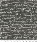 Ellen DeGeneres Upholstery Fabric 54\u0027\u0027-Charcoal Love Script