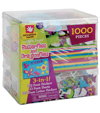 Fibre Craft 3-In-1! Foam Kit-Butterflies & Dragons
