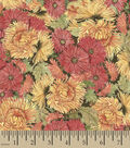Susan Winget Cotton Fabric 44\u0027\u0027-Packed Mums & Marigolds