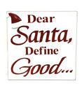 Maker\u0027s Holiday Table Decor Block-Santa Define Good