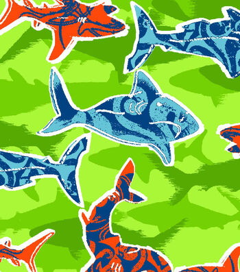 Snuggle Flannel Fabric 42''-Shark Water Shadow