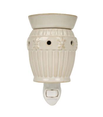 Hudson 43™ Candle & Light Collection White Fleur De Lis Plug In