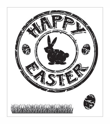 """Technique Tuesday Clear Stamps 2""""X2.5""""-Easter Seal"""