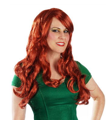 Maker's Halloween Long Wig-Red