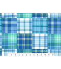 Snuggle Flannel Fabric 42\u0027\u0027-Boy Madras Plaid