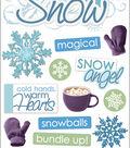 Paper House 14 pk 3D Stickers-Let It Snow