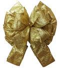 Maker\u0027s Holiday Tree Topper Bow-Gold Glitter