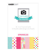 "Captured Moments Double-Sided Cards 6""X4"" 30/Pkg-Sprinkles, , hi-res"