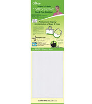 "Shape 'n Create With Nancy Zieman Bag&Tote Stabilizer-White 5""X20"" 2/Pkg, , hi-res"