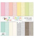 Simple Stories Sn@p! Color Vibe Paper Pack 12\u0027\u0027x12\u0027\u0027