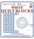 Stamped White Quilt Blocks 18\u0022X18\u0022 6/Pkg-Starburst Of Hearts