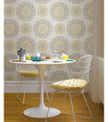 WallPops® NuWallpaper™ Gray and Yellow Suzani Peel And Stick Wallpaper