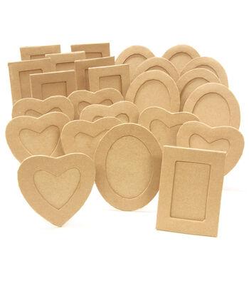 Paper-Mache Frames Classpack 24pc Assortment-8 Each Of 3 Styles