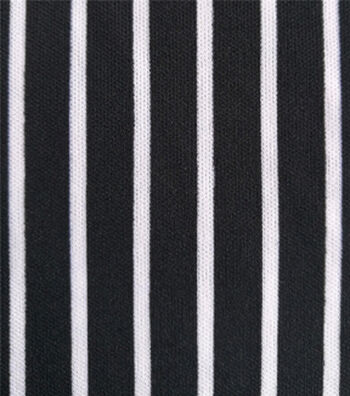 """The Witching Hour Knit Fabric 58""""-Black & White"""