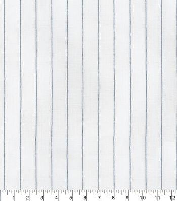 P/Kaufmann Drapery Fabric 56''-Navy Linet Stripe