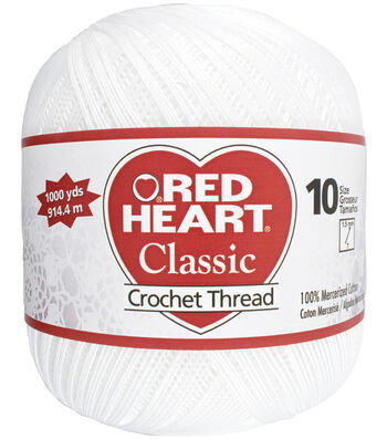 Red Heart Crochet Thread-White