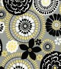 Quilter\u0027s Showcase™ Cotton Fabric 44\u0022-Impala Grey Medallion