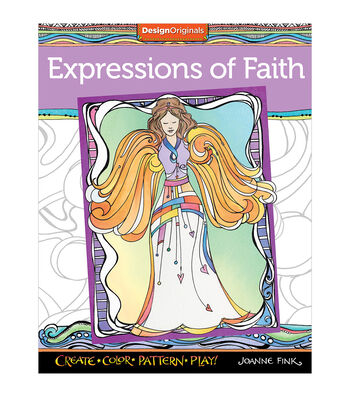 Design Originals Expressions Of Faith Coloring Book