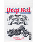 Deep Red 3\u0027\u0027x3\u0027\u0027 Cling Stamp-Motorcycle Logo