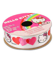 Hello Kitty® Valentines Ribbon-Tri Color Heart, , hi-res