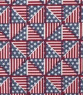 Patriotic Cotton Fabric 44\u0022-Pinwheel Flags