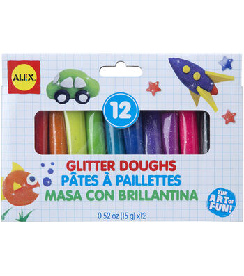 Alex Toys Dough Glitter Set 12 Pcs