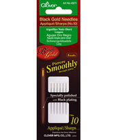 Black Gold Applique/Sharps Needles-Size 10 6/Pkg, , hi-res