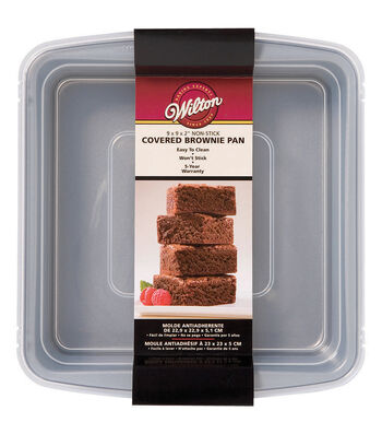 "Wilton® Recipe Right Covered Brownie Pan 9""X9""X2"""