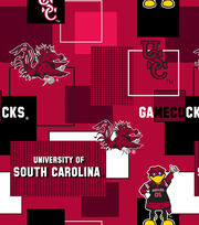 "University of South Carolina Gamecocks Cotton Fabric 43""-New Block, , hi-res"