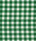 OilCloth-Bottle Green Gingham-12 yard Roll, 48\u0022 Wide