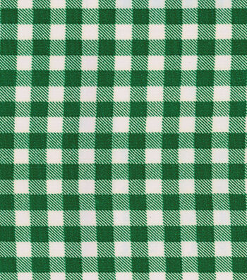 "OilCloth-Bottle Green Gingham-12 yard Roll, 48"" Wide"